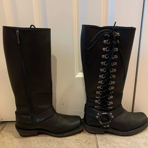 HARLEY DAVIDSON ROMY BOOTS - knee high, used